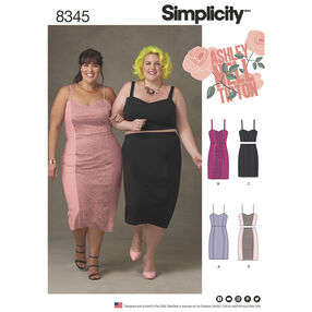 Simplicity Pattern 8345 Plus Size Dress, Top and Skirt by Ashley Nell Tipton