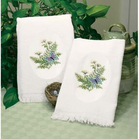 Botanical Butterflies Guest Towels, Embroidery_73364