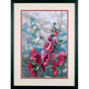 Hollyhocks in Bloom, Embroidery_11127