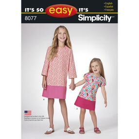 Pattern 8077 It's So Easy Dresses for Child and Girl