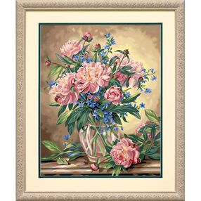 Peony Floral, Paint by Number_91382