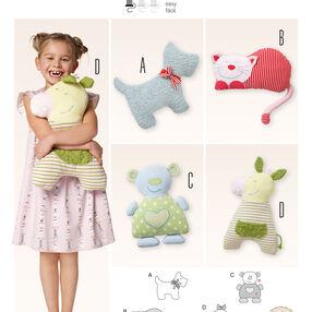 Burda Style Pattern 6886 Creative, Doll Clothes, Accessories