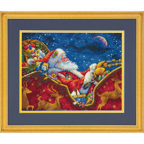 Santa's Midnight Ride, Counted Cross Stitch_70-08934