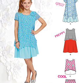 Dresses, Top and Shorts for Girls and Girls Plus