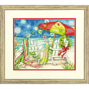 Christmas Beach Chairs, Counted Cross Stitch_70-08948