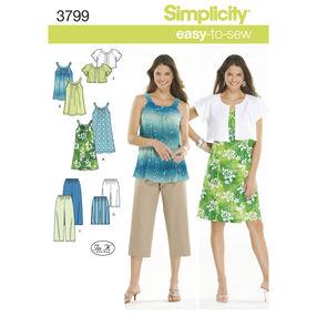 Simplicity Pattern 3799 Misses'/Juniors' Sportswear