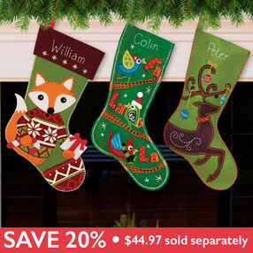 Festive Stockings Bundle, Felt Applique_509901