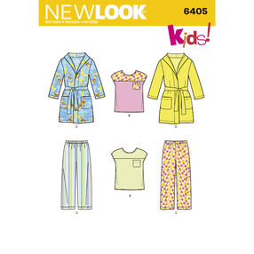New Look Pattern 6405 Toddlers' Separates
