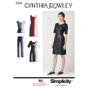 Simplicity Pattern 1314 Misses' Dress & Sportswear. Cynthia Rowley Collection