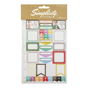 Simplicity Vintage Sewing Planner Stickers