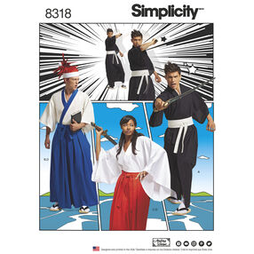 Simplicity Pattern 8318 Misses', Men's and Teen's Costumes