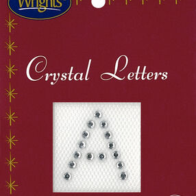 "1"" Crystal Letter Iron-On Applique"