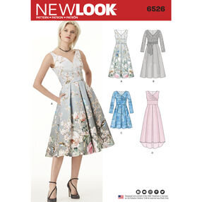 New Look Pattern 6526 Misses' Dress with Bodice Variations