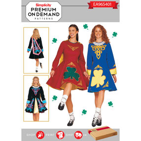 Simplicity Pattern EA965401 Premium Print on Demand Costume Pattern
