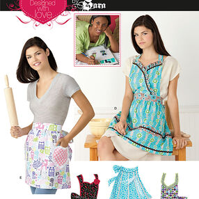 Misses' Aprons Designed with Love By Sara