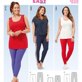 Burda Style Pattern 6677 Women's Leggings