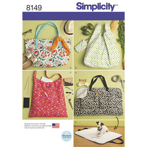 Simplicity Pattern 8149 Totes and Dog Travel Bed