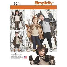 Child's Lined Animal Cape Costumes