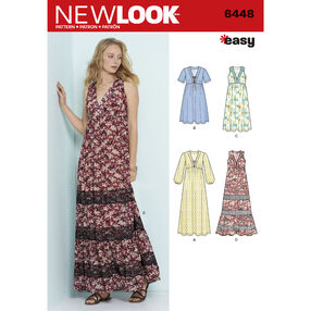6448 Misses' Easy V-Neck Dresses