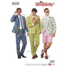 Simplicity Pattern 8528 Men's Costume Suit