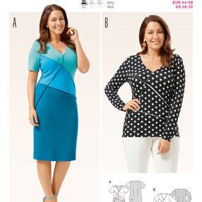 Burda Style Pattern 6673 Women's Shirt and  Dress