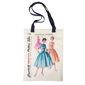 Simplicity Vintage Dresses Pattern Tote