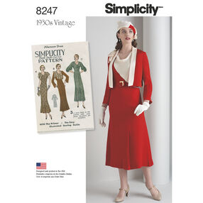Simplicity Pattern 8247 Misses' 1930s Dress and Jacket
