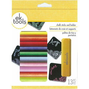 Classic Chalk Primary Pastel Colors Chalk Sticks and Holder_55-32005