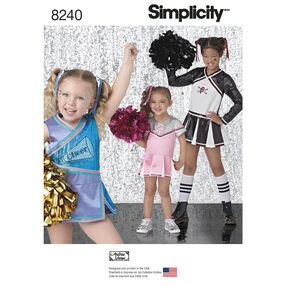 Simplicity Pattern 8240 Child's and Girls' Cheer Costumes
