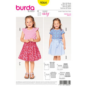 Burda Style Pattern B9364 Child Shirt and Elastic Skirt