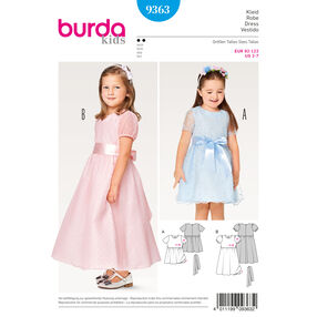 Burda Style Pattern B9363 Child Two Layered Dress
