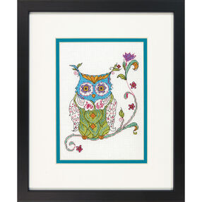 Blooming Owl, Counted Cross Stitch_70-65163