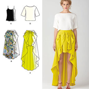 Misses' Skirt & Top Cynthia Rowley Collection