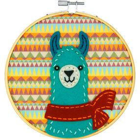 Friendly Llama, Felt Appliqué_72-75114