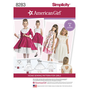 Simplicity Pattern 8283 American Girl Child's Dress and Lined Jacket