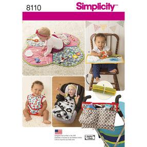 Simplicity Pattern 8110 Babies' Play Mats, Stroller Accessories, and Bibs