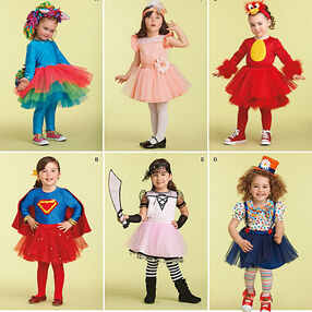 Toddlers' Costume with Knit Leggings