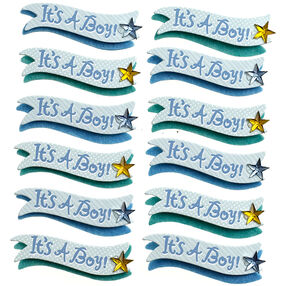 It's a Boy Banner Repeat Stickers_50-21677