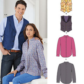 Misses' and Men's Shirt and Vest