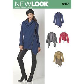 New Look Pattern 6417 Misses' Draped Jacket