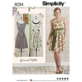 Simplicity Pattern 8294 Misses'/Petite Dress and Sash