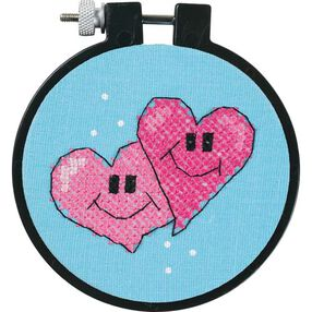 A Pair of Hearts, Stamped Cross Stitch_72534