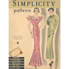 Simplicity Poster Vintage 1930s