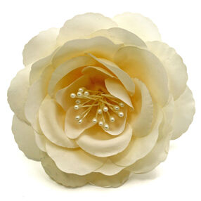 Cream Bloom Pin & Clip Flower_56-63061