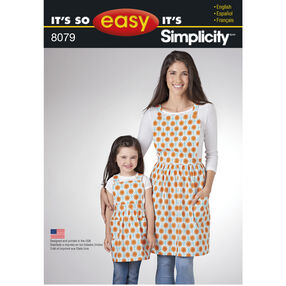 Pattern 8079 It's So Easy Aprons for Child and Miss