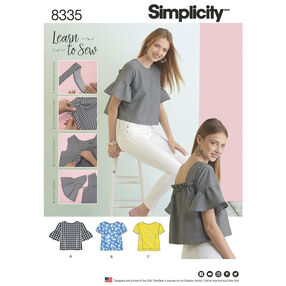 Simplicity Pattern 8335 Misses' Top with Back Interest