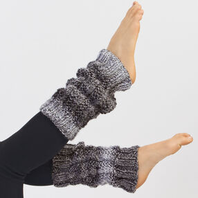 Twisted Stitch Knit Leg Warmers