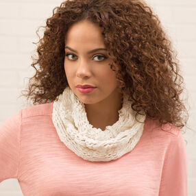 Loom Knit Light and Lacy Cowl