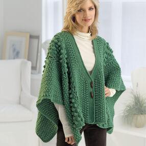 Crochet Aran Toggle Wrap