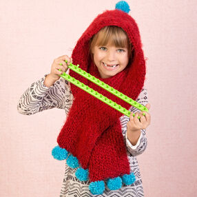 Loom Knit Child's Hoodie Scarf
